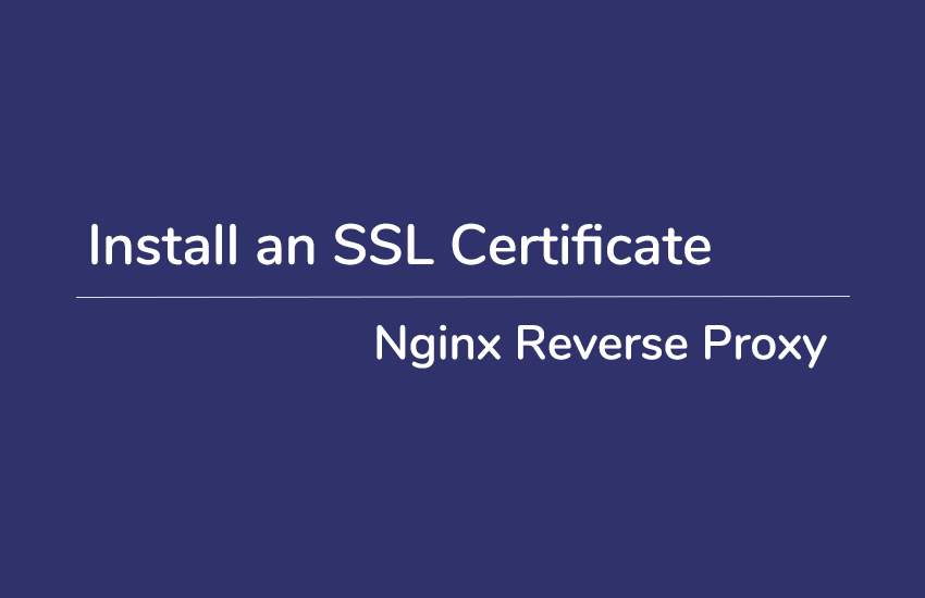install an ssl with nginx reverse proxy